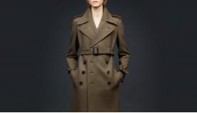 Роскошное пальто в стиле милитари — строгость в сочетании с женственностью