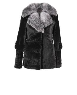 Полупальто из мутона, цвет: Чёрный, отделка Блюфрост - купить за 42200 в магазине - Гипермаркет меха