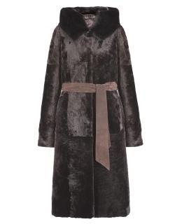Пальто из мутона, цвет: Шоколад, отделка Норка - купить за 39600 в магазине - Гипермаркет меха