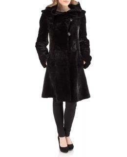 Полупальто из мутона, цвет: Чёрный астраган - купить за 42900 в магазине - Гипермаркет меха