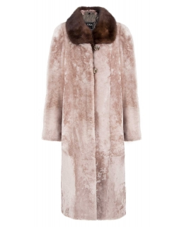 Пальто из мутона, цвет: Енот астраган, отделка Норка - купить за 41800 в магазине - Гипермаркет меха