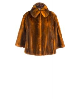 Жакет из меха норки, цвет: Оранжевый - купить за 60000 в магазине - Гипермаркет меха