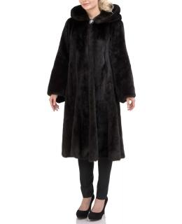 Пальто из меха норки, цвет: Чёрный - купить за 206800 в магазине - Гипермаркет меха