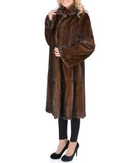 Пальто из меха норки, цвет: Коричневый - купить за 198000 в магазине - Гипермаркет меха