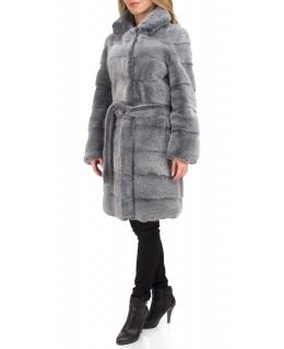 Полупальто из меха норки, цвет: Синий лёд - купить за 276800 в магазине - Гипермаркет меха