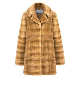 Полупальто из меха норки, цвет: Золотой - купить за 83600 в магазине - Гипермаркет меха