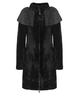 Полупальто из мутона, цвет: Чёрный - купить за 35200 в магазине - Гипермаркет меха