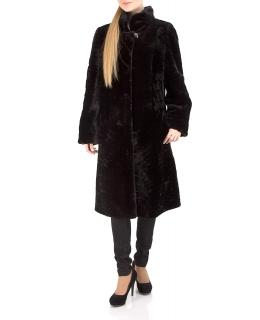 Полупальто из мутона, цвет: Чёрный астраган - купить за 44000 в магазине - Гипермаркет меха