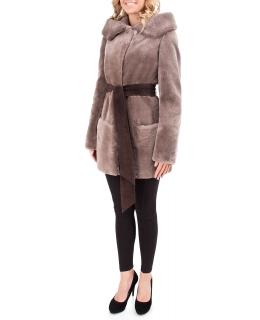 Полупальто из меха бобра, цвет: Натуральный (бобёр) - купить за 31900 в магазине - Гипермаркет меха