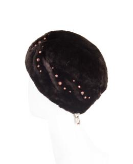 Шапка из мутона, цвет: Чёрный - купить за 3800 в магазине - Гипермаркет меха