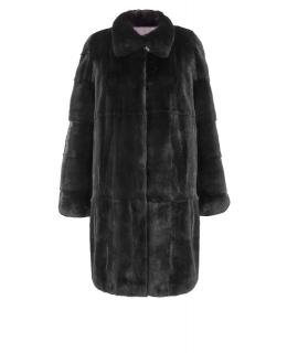 Полупальто из меха норки, цвет: Чёрный - купить за 236000 в магазине - Гипермаркет меха