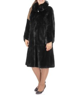 Пальто из меха норки, цвет: Чёрный - купить за 261300 в магазине - Гипермаркет меха