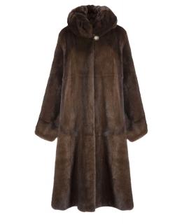 Пальто из меха норки, цвет: Деми бафф - купить за 249000 в магазине - Гипермаркет меха