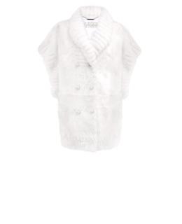 Полупальто из меха ягненка, цвет: Белый, отделка Норка - купить за 101400 в магазине - Гипермаркет меха