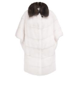 Полупальто из меха норки, цвет: Белый, отделка Соболь - купить за 244600 в магазине - Гипермаркет меха