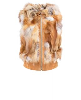 Жакет из меха лисы, цвет: Натуральный (лиса), отделка Замша - купить за 27600 в магазине - Гипермаркет меха