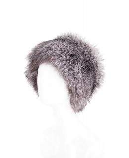 Головной убор из меха чернобурой лисы, цвет: Натуральный (чернобурая лиса) - купить за 14400 в магазине - Гипермаркет меха