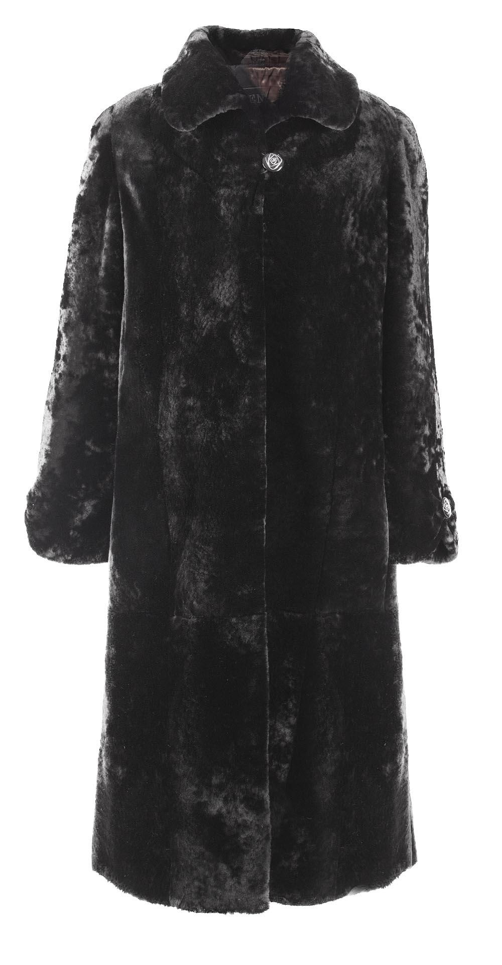 Пальто из мутона, цвет: Агат - купить за 35200 в магазине - Гипермаркет меха