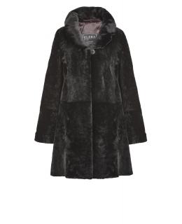 Полупальто из мутона, цвет: Чёрный - купить за 39600 в магазине - Гипермаркет меха