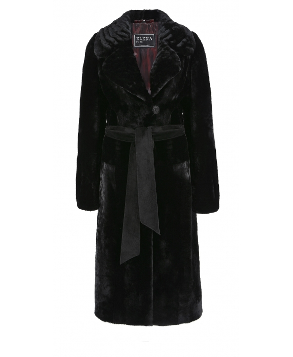 Пальто из мутона, цвет: Чёрный - купить за 36100 в магазине - Гипермаркет меха