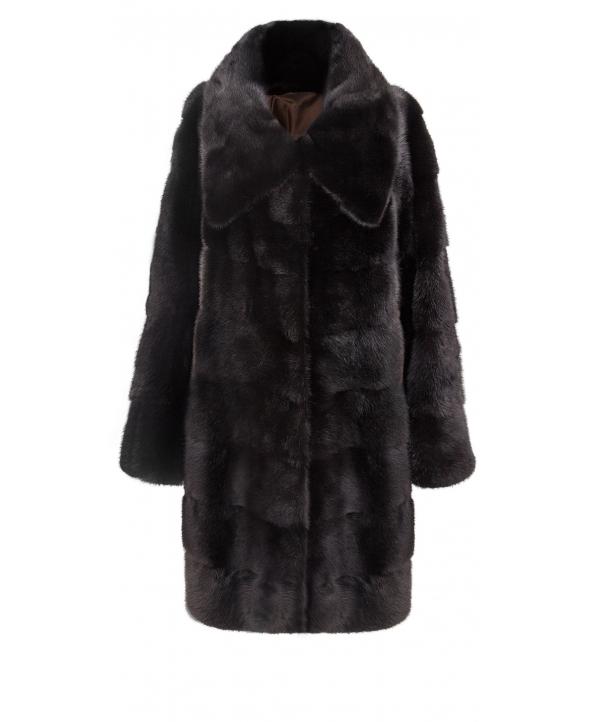 Полупальто из меха норки, цвет: Чёрный - купить за 266600 в магазине - Гипермаркет меха