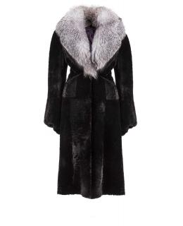 Пальто из мутона, цвет: Чёрный, отделка Блюфрост - купить за 47500 в магазине - Гипермаркет меха