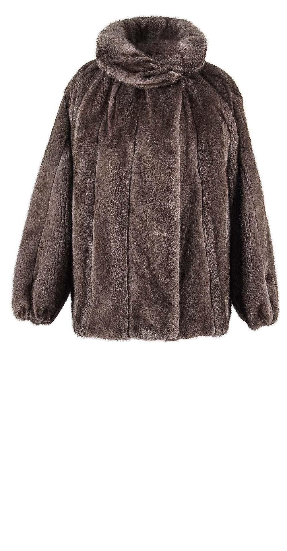 Полупальто из меха норки, цвет: Серый - купить за 271700 в магазине - Гипермаркет меха