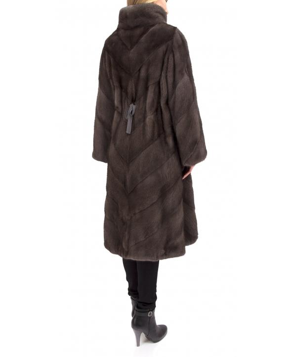 Пальто из меха норки, цвет: Серый - купить за 271700 в магазине - Гипермаркет меха