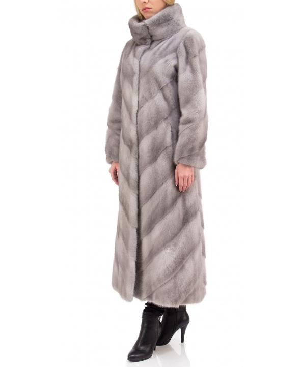 Пальто из меха норки, цвет: Сапфир - купить за 332400 в магазине - Гипермаркет меха