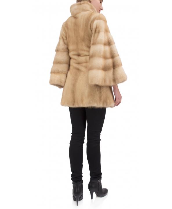 Полупальто из меха норки, цвет: Пастель - купить за 253200 в магазине - Гипермаркет меха