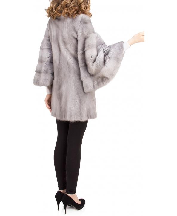 Полупальто из меха норки, цвет: Сапфир - купить за 253200 в магазине - Гипермаркет меха