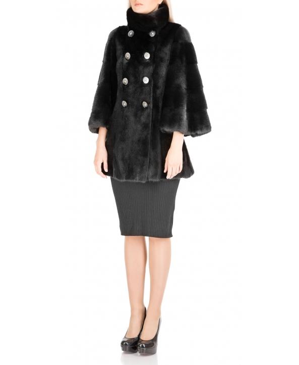 Полупальто из меха норки, цвет: Чёрный - купить за 223500 в магазине - Гипермаркет меха