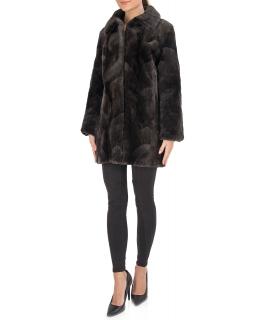 Полупальто из меха бобра, цвет: Микки - купить за 41400 в магазине - Гипермаркет меха