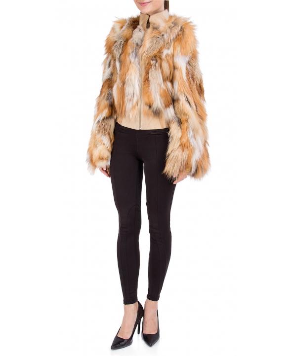 Жакет из меха лисы, цвет: Натуральный (лиса), отделка Замша - купить за 35100 в магазине - Гипермаркет меха