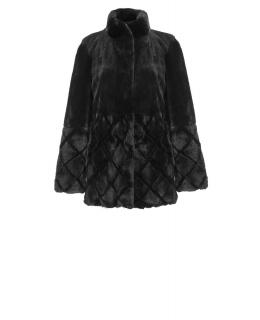 Полупальто из меха норки, цвет: Чёрный, отделка Рекс - купить за 75400 в магазине - Гипермаркет меха