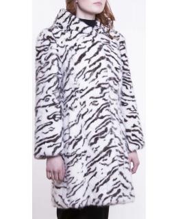 Полупальто из меха норки, цвет: Далматин - купить за 99000 в магазине - Гипермаркет меха