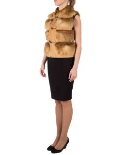 Жилет из меха лисы, цвет: Натуральный (лиса), отделка Замша - купить за 26400 в магазине - Гипермаркет меха