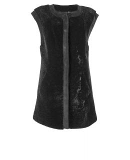 Жилет из мутона, цвет: Чёрный астраган - купить за 32300 в магазине - Гипермаркет меха