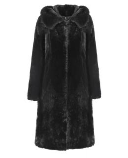 Полупальто из мутона, цвет: Чёрный астраган, отделка Норка - купить за 43700 в магазине - Гипермаркет меха