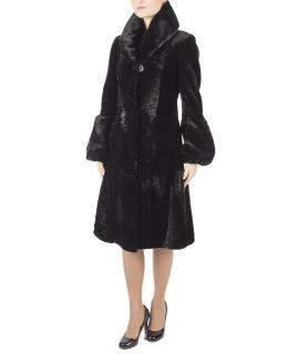 Пальто из мутона, цвет: Чёрный - купить за 36500 в магазине - Гипермаркет меха