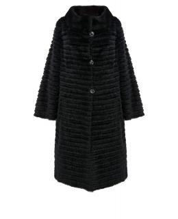 Пальто из меха норки, цвет: Чёрный, отделка Кролик, текстиль - купить за 59400 в магазине - Гипермаркет меха