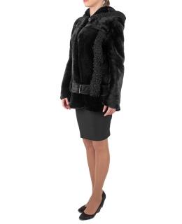 Полупальто из мутона, цвет: Чёрный, отделка Каракуль - купить за 33000 в магазине - Гипермаркет меха