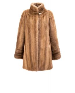 Полупальто из меха норки, цвет: Орех - купить за 76000 в магазине - Гипермаркет меха