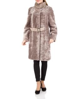 Полупальто из мутона, цвет: Серый астраган, отделка Норка - купить за 44000 в магазине - Гипермаркет меха