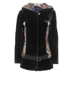 Полупальто из мутона, цвет: Чёрный, отделка Гобелен - купить за 36300 в магазине - Гипермаркет меха
