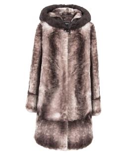Полупальто из мутона, цвет: Енот полоса, отделка Норка - купить за 44000 в магазине - Гипермаркет меха