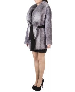 Полупальто из меха нутрии, цвет: Серебро, отделка Блюфрост - купить за 46200 в магазине - Гипермаркет меха