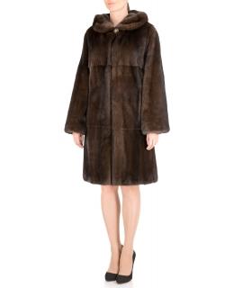 Полупальто из меха норки, цвет: Махагон - купить за 285200 в магазине - Гипермаркет меха