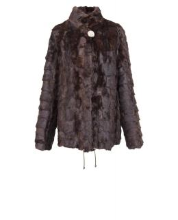 Полупальто из меха норки, цвет: Махагон - купить за 10000 в магазине - Гипермаркет меха