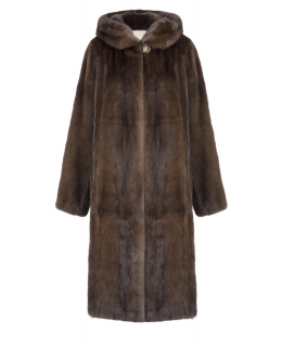 Пальто из меха норки, цвет: Деми бафф - купить за 285200 в магазине - Гипермаркет меха
